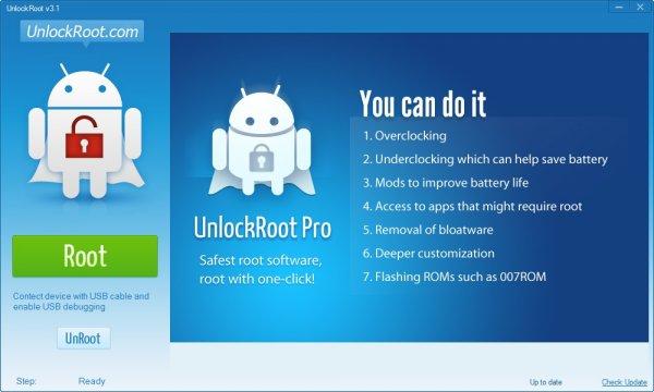 UnlockRoot Pro - получить root права на Android