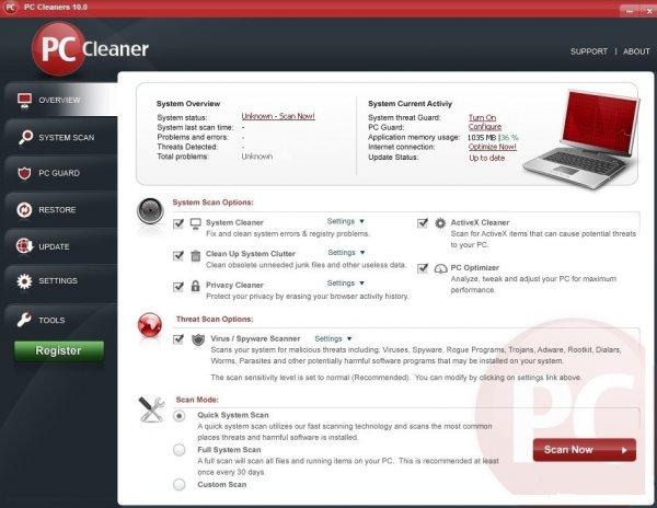 PC Cleaner Pro - программа для оптимизации и очистки системы