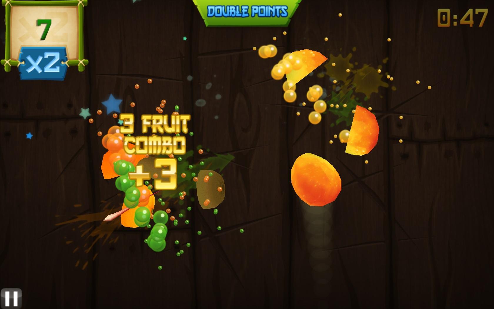 Игра резать фрукты на телефон Андроид - YouTube