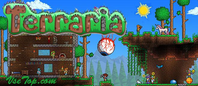 Скачать Terraria PC – игрище Террария сверху русском