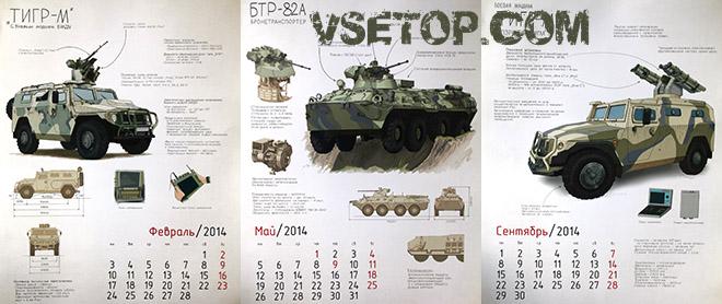 Военная техника россии – календарь