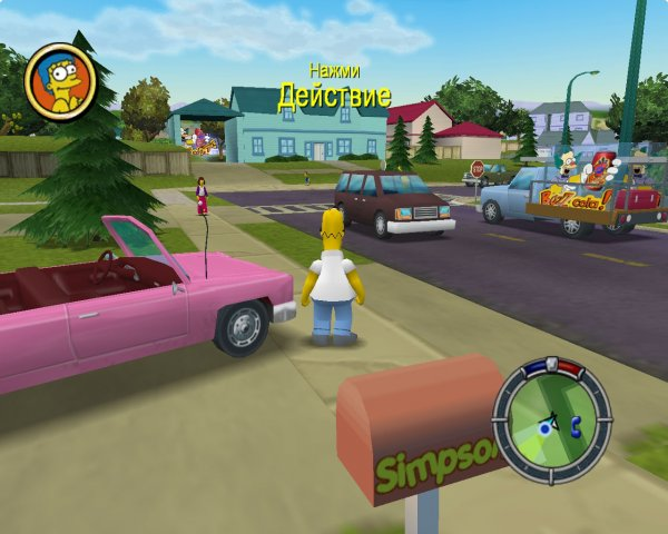 Симпсоны: Бей и беги / The Simpsons Hit and Run (2003) PC - торрент