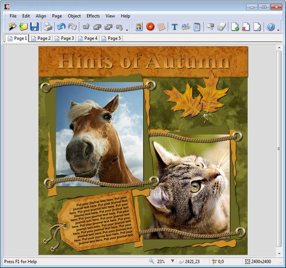 Scrapbook Max! – красиво оформить фото