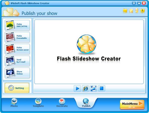 iPixSoft Flash Slideshow Creator - программа для создания флэш слайд-шоу