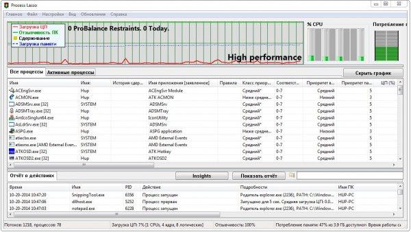 Process Lasso Pro v9.0.0.440 + ключ