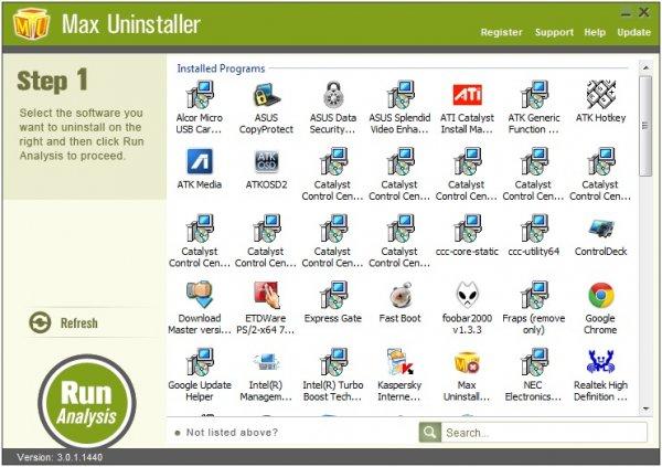 Max Uninstaller – полное удаление программ