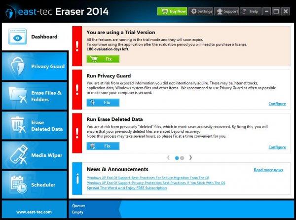 East-Tec Eraser 2014 + ключ на 180 дней