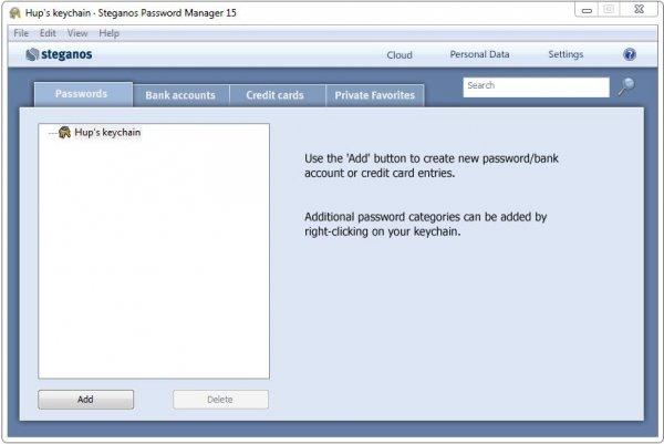 Steganos Password Manager – программа для хранения паролей
