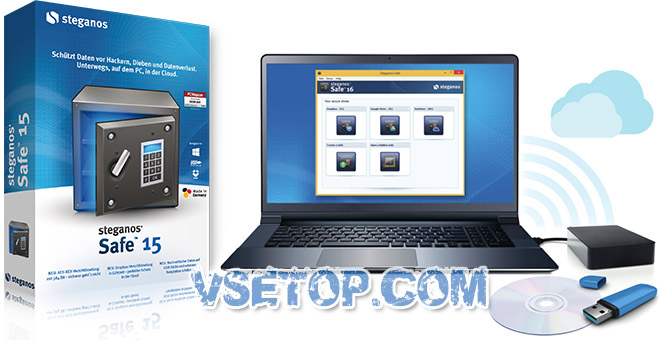 Steganos Safe + ключ – защита данных