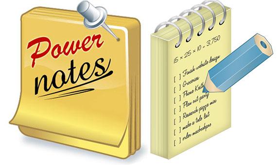 Power Notes + ключ – заметки на рабочий стол