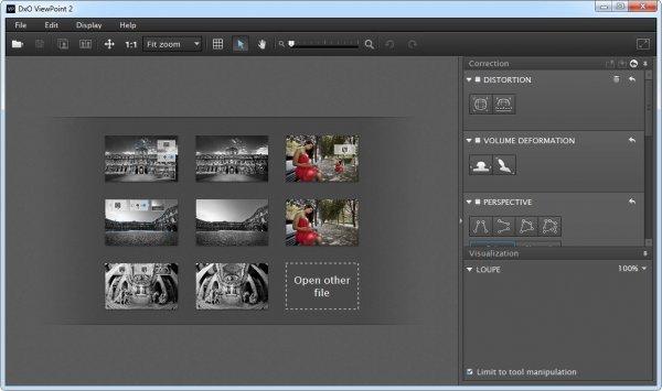DxO ViewPoint - исправление искажений на фото