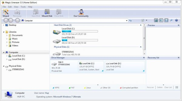 Magic Uneraser – программа для восстановления удаленных файлов