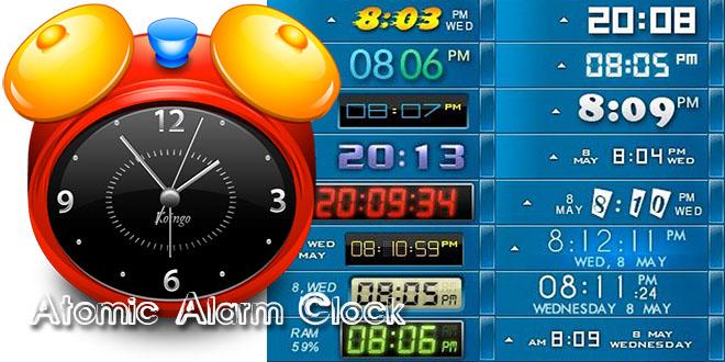 Atomic Alarm Clock – изменить часы в трее