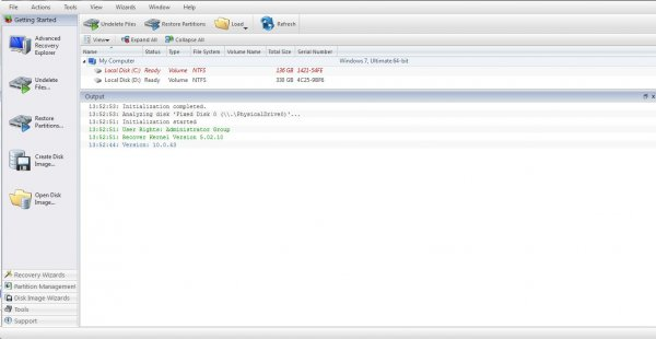 Active Undelete + ключ - восстановление файлов