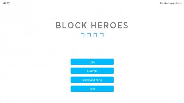 Block Heroes v0.29 - игра на стадии разработки
