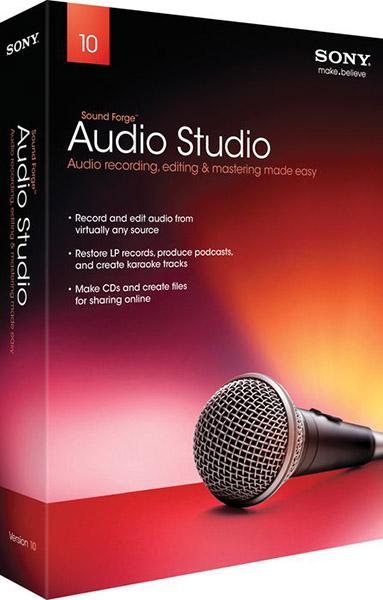 Sony Sound Forge Audio Studio 10 + ключ – программа для работы с аудио