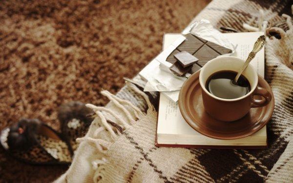обои на рабочий стол осень кофе уют 15682